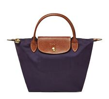 NWT LONGCHAMP Le Pliage Type S Small Nylon Short Handle Bag BILBERRY PURPLE AUTH