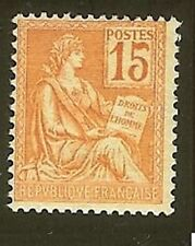 "FRANCE STAMP TIMBRE N° 117 "" MOUCHON 15c ORANGE "" NEUF xx TTB H911C"