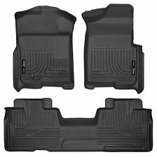 Husky Liners WeatherBeater Floor Mats-3pc-98341- Ford F150 SuperCab 09-14- Black