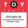 7397060031B0 Toyota Air Bag Assy Instr 73970-60031-B0, Genuine OEM Part