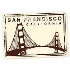 "San Francisco travel car bumper window suitcase sticker 5"" x 3"""