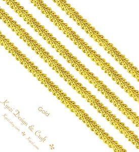 1/2 inch Braided Gimp Trim By the Yard, 13mm French Style Gimp Cord Trim