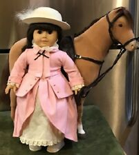 "18"" American Girl Doll with: 20"" Horse, English Saddle & Riding Outfit..."