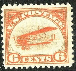 [DZ]   US #C1 ~1st Airmail Stamp ~ 1918 'Jenny' Mail Transport Plane ~ MNH OG