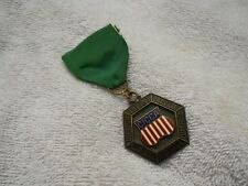 Vintage 1974 CICCA Swimming Medal Pin Junior Girls 50 Yard Breast Stroke
