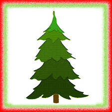 Sizzix Christmas Tree #2 large die #654987 Retail $15.99 Cuts Fabric! Retired