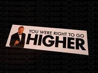 Bruce Forsyth Sticker, right to go Higher... M (VW GTI)