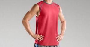 Under Armour Mens Draft III Sleeveless T shirt Red medium 1207909