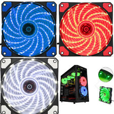 Cooler Fan Ventilador Para Caja PC Ordenador Gaming 12cm 15 LED 12V 9 Cuchillas
