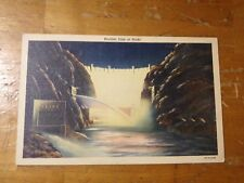 Vintage Postcard Boulder Dam At Night, Nevada #2