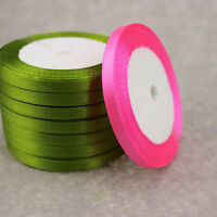 22 metres Wedding Christmas Thin Satin Ribbon - 6mm Widths Various Colours