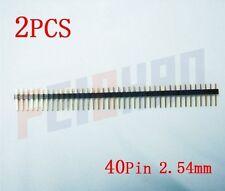 40Pin 2.54mm Straight Male Pin Header Strip, circuit board,PCB,LED F01928-2