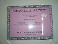 Arches Watercolor Block Paper Hot Pressed Sheets Press 140lb 300gsm 23x31 cm.