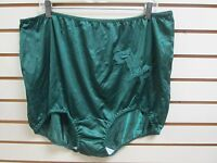 (3) Contessa Nylon Brief Panties Decorative Applique Drk Green Size 15 / 8X