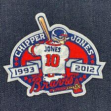 ATLANTA BRAVES CHIPPER JONES RETIREMENT PATCH 1993-2012 JERSEY PATCH IRON ON