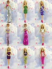 15 items= 5 Lovely Fashion Clothes/Outfit/Dress +10 shoes For Barbie Doll New