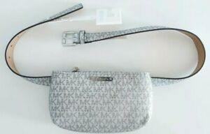 Michael Kors Women's Silver/White Fanny Pack Bag NWT Size S/M New