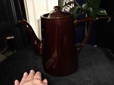 "VINTAGE DARK BROWN HIGH GLAZED COFFEE POT ALB ALCOCK LINDLEY & BLOOR 7.5"""