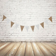 2.4m Birthday Hessian Wedding Bunting Garland Party Hang Banner Decoration Flags
