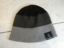Pukkainc Yellowstone Club Knit Acrylic Logo Gray/Black Stripe Beanie Hat Osfa