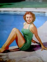Pinup Lithograph Jeanne Crain 1953 20th Century Fox Cheesecake Promo Photo VTG