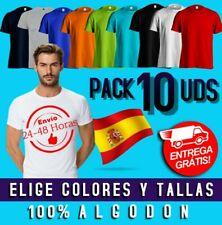 Pack10 Camisetas Lisas 100% Algodón Negro Blanco Camiseta Lisa Para Hombre Chico