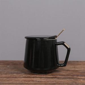 Ceramic Mug With Lid And Spoon, Tea Cup Or Coffee Mug With Gift Box For Coffee T