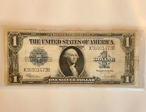 1923 $1 SILVER CERTIFICATE LARGE SIZE  CRISP  ON SALE!! (1E)