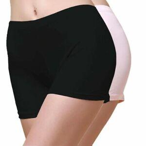 Lot 2 Pairs Knit Silk Women Boxer Briefs Underwear US Medium