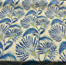 Waverly Shake and Stir Azure Floral Blue Linen Fabric By the Yard