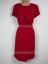 BNWT South Red Draped Wrap Effect Dress Size 14 RRP £44