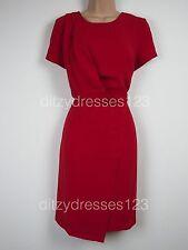 BNWT South Red Draped Wrap Effect Dress Size 16 RRP £44