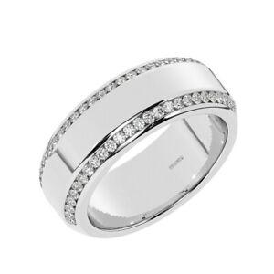8.50mm, Round Brilliant Diamond Men's Heavyweight Wedding Ring in 950 Platinum