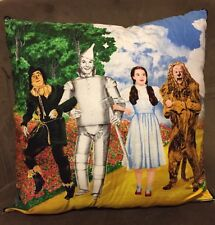 Wizard Of Oz Tinman Dorothy Lion Scarecrow Handmade Throw Pillow OOP Fabric