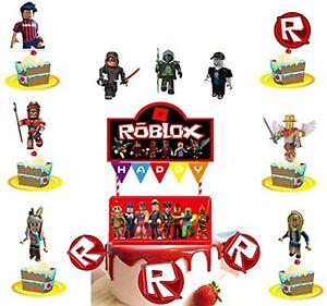 27 Pcs Set Roblox Game Theme Cake Decoration Roblox Cupcake Topper Supplies