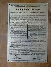 ancienne plaque ancienne ALUMINIUM DANGER edf déco indus loft atelier usine