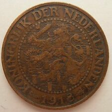 NETHERLANDS 2 1/2 CENT 1918