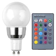 GU10 3W RGB LED Lampe Licht Beleuchtung Farbwechsel Glühbirne Fernbedienung