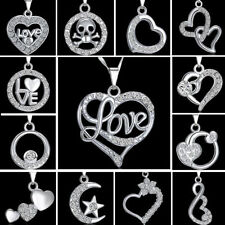 heart Love Rhinestone Crystal Costume Necklaces & Pendants