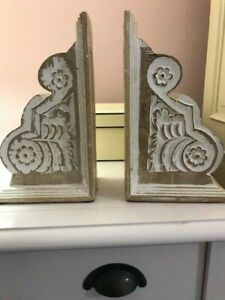 Ornate Wooden Bookends