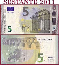 """(com) EUROPEAN UNION - ITALY 5 EURO 2013 Sign DRAGHI  """"SB""""  S006C5 - P 20s - UNC"""