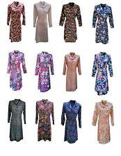 Long Sleeve Dress For Older Woman. Vintage Dresses Elderly Ladies. Sizes 12 - 24