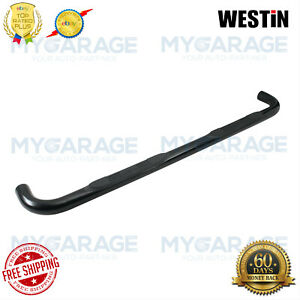 """Westin For 16-18 Nissan Titan XD E-Series Round Nerf Bars 3""""Black Powder 23-4025"""