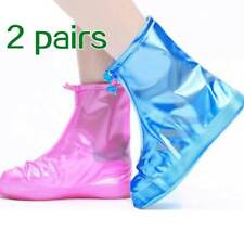 Outdoor Waterproof Rainproof Shoes Cover Thick Bottom Cycling Rain Boots 2 Pairs