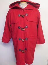 "Vintage Wool Duffle Duffel Coat Raincoat XL 42"" UK 16/18 Euro 44/46 - Red"