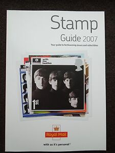 ROYAL MAIL STAMP GUIDE 2007 BEATLES FEATURE - MINT CONDITION