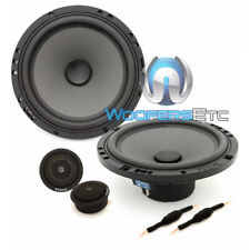 "PAIR OF FOCAL 6PS-2 OHM 6.5/"" CAR AUDIO MIDRANGE SPEAKERS FROM PS-165V COMPONENTS"