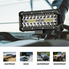 """7"""" INCH 400W CREE LED Work Light Bar Flood Combo Driving OffRoad Tractor 4WD SUV"""