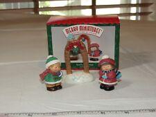 Hallmark Keepsake Ornament 1996 Bashful Mistletoe 3 piece set Miniature Figurine