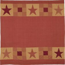 NINEPATCH Star Shower Curtain With Patchwork Borders 72x72 841985030756